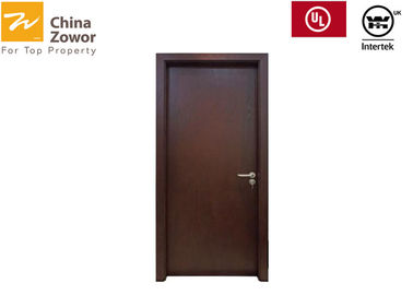 52mm Thick 1 Hour Rated Fireproof Wooden Doors/ Teak Wood Veneer Finish/ Color Choice Available